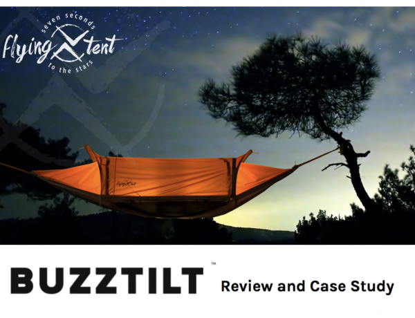 Flying Tent Soars to $500k Kickstarter Campaign with Buzztilt